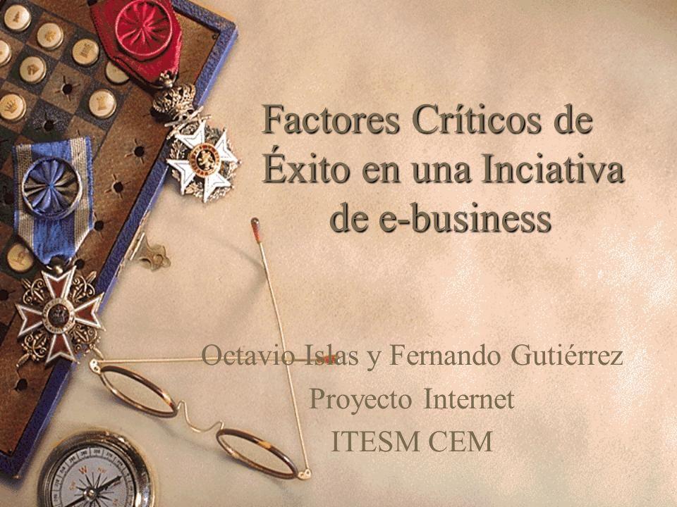 Factores Críticos de Éxito en una Inciativa de e-business