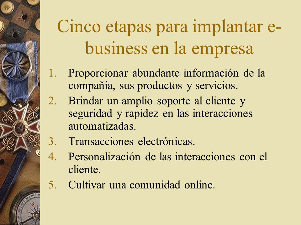 Cinco etapas para implantar e-business en la empresa