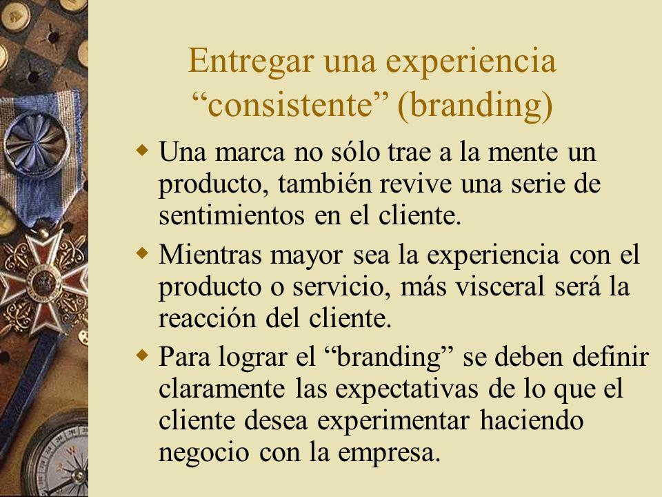 Entregar una experiencia consistente (branding)
