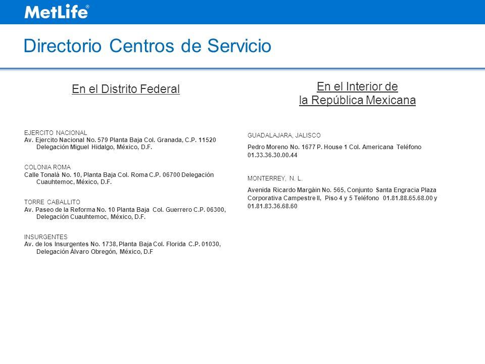 Directorio Centros de Servicio