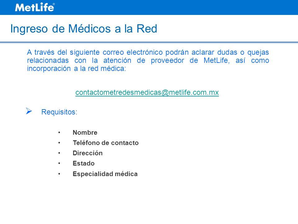 Ingreso de Médicos a la Red