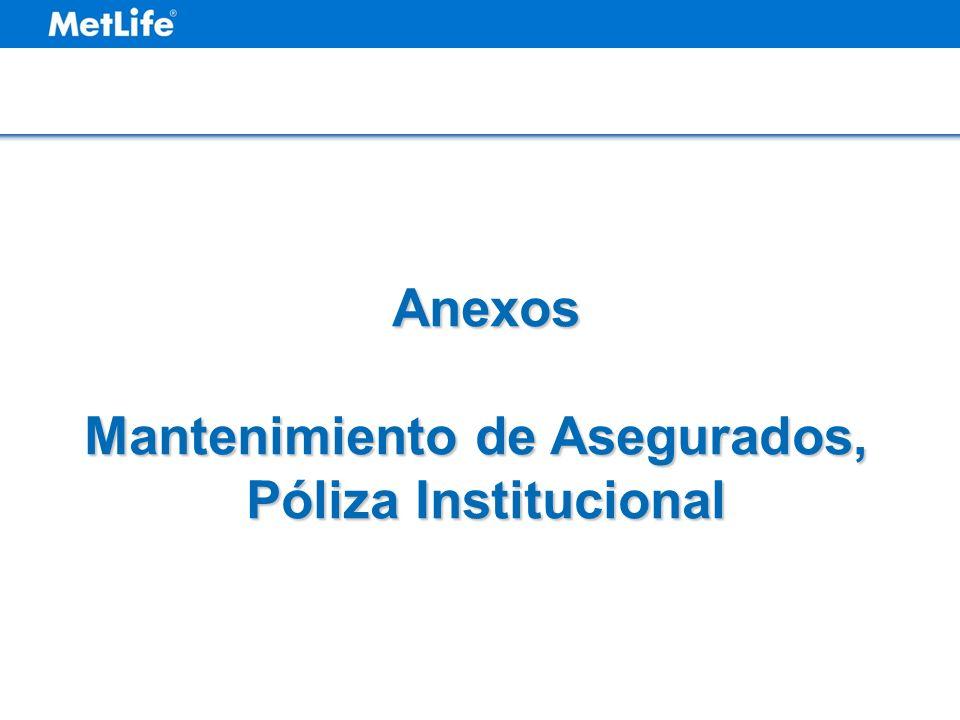 Mantenimiento de Asegurados, Póliza Institucional