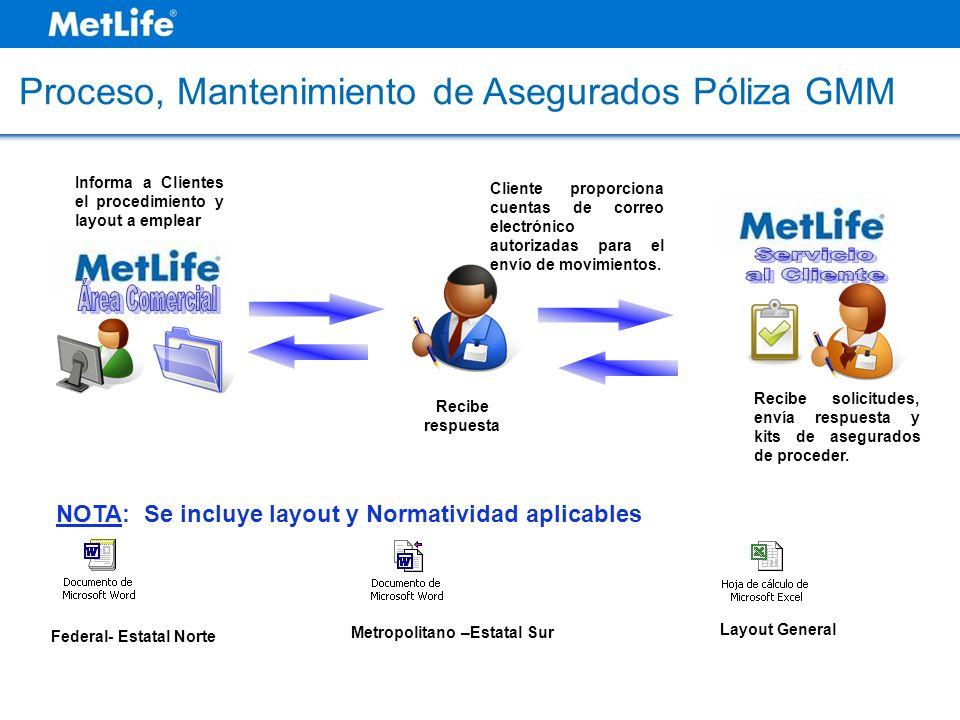 NOTA: Se incluye layout y Normatividad aplicables