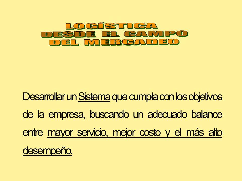 LOGÍSTICA DESDE EL CAMPO. DEL MERCADEO.