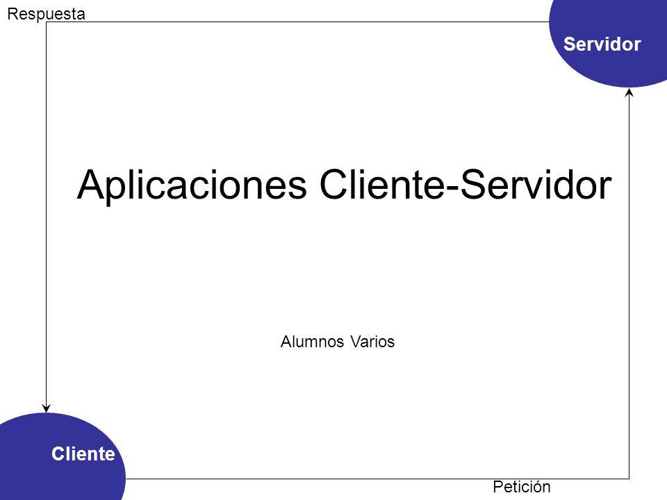 Aplicaciones Cliente-Servidor