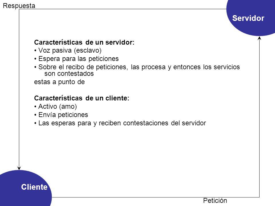 Características de un servidor: