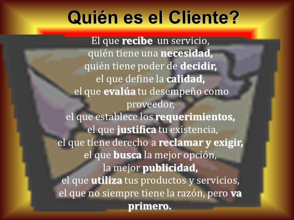 Quién es el Cliente El que recibe un servicio,