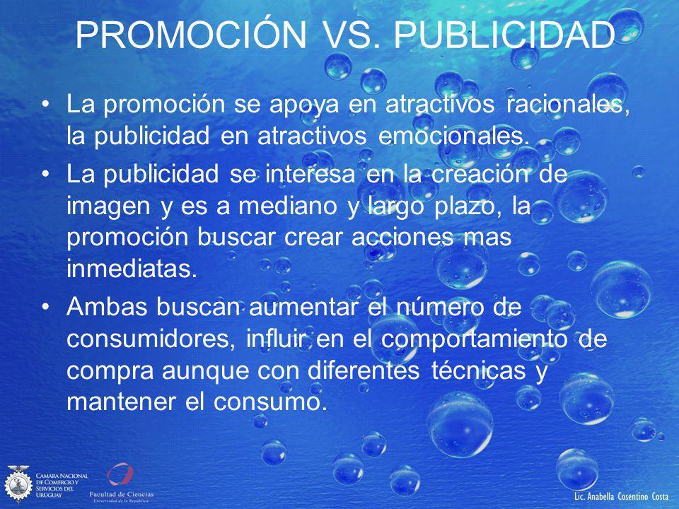 PROMOCIÓN VS. PUBLICIDAD