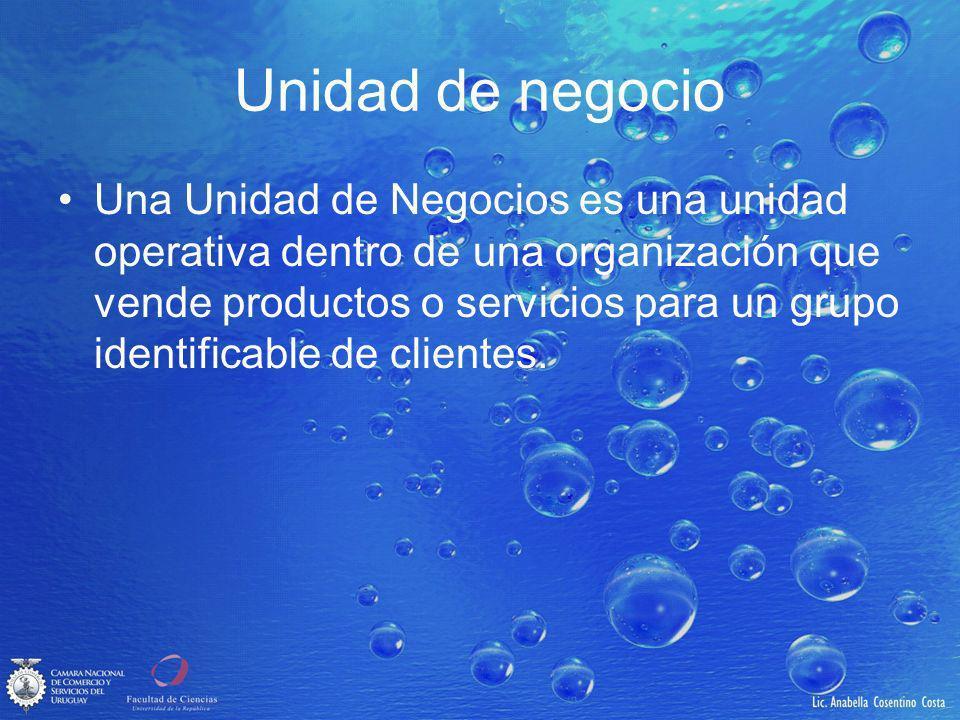 Unidad de negocio