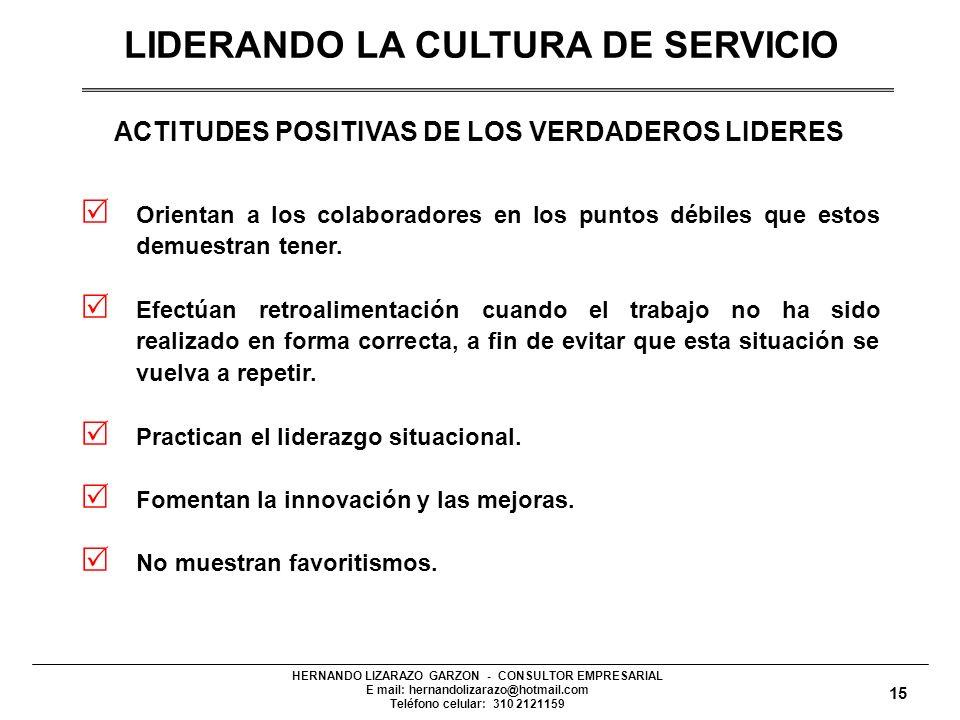 LIDERANDO LA CULTURA DE SERVICIO