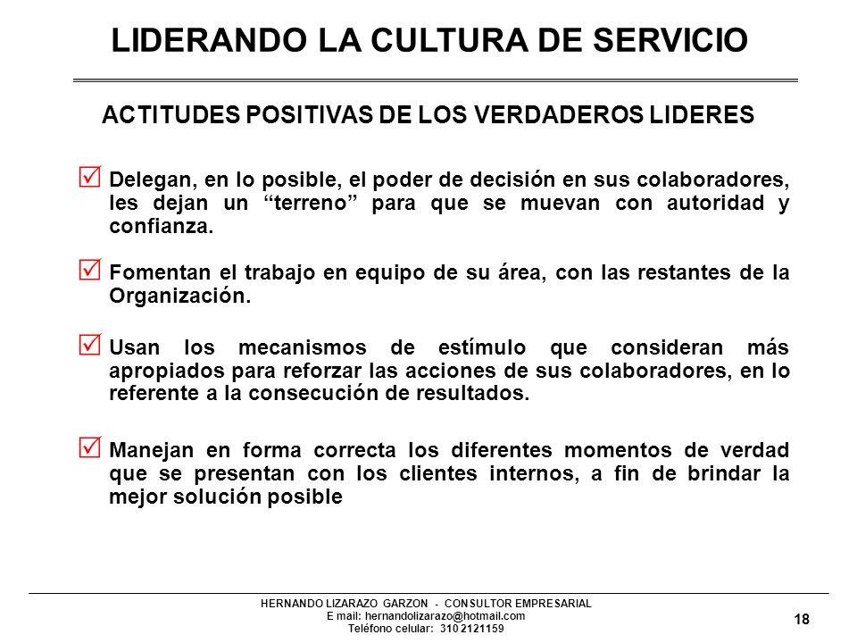 ACTITUDES POSITIVAS DE LOS VERDADEROS LIDERES