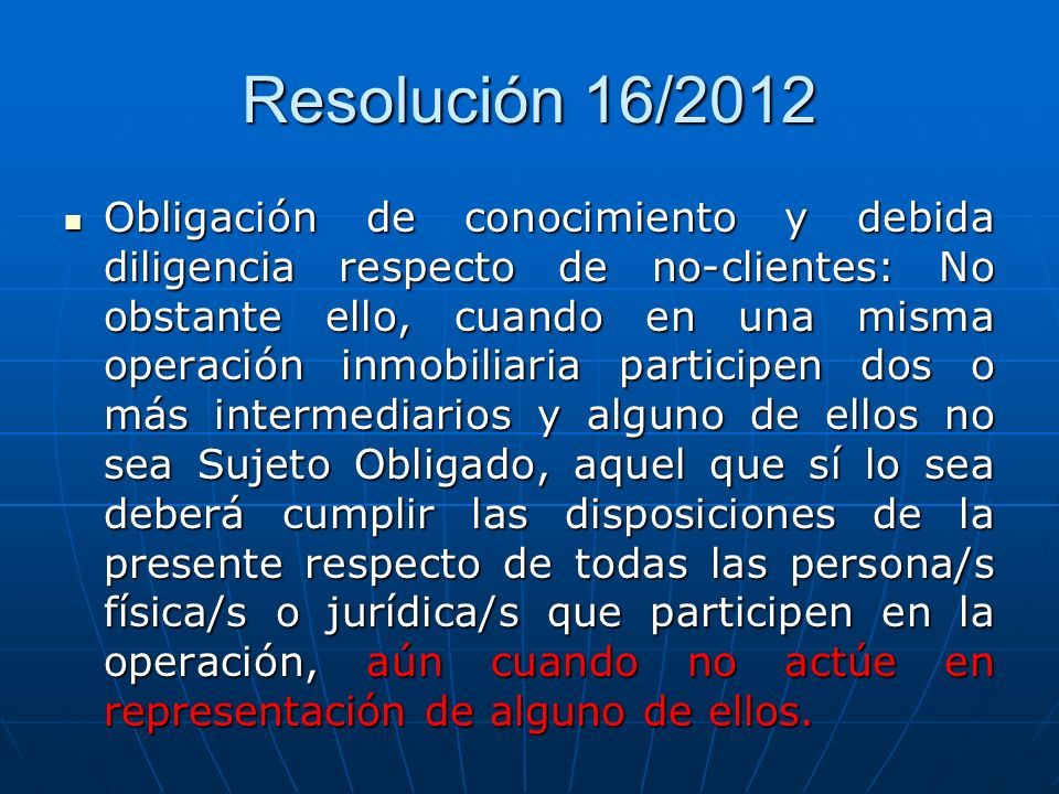 Resolución 16/2012