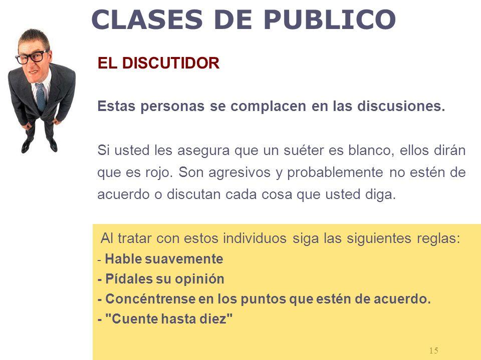 CLASES DE PUBLICO EL DISCUTIDOR