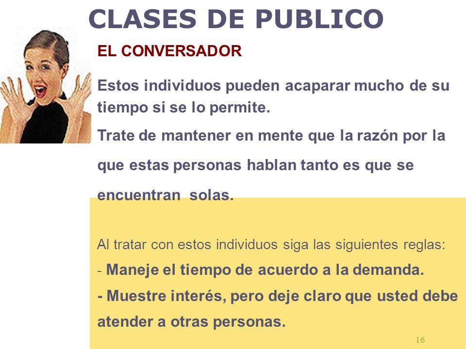 CLASES DE PUBLICO EL CONVERSADOR
