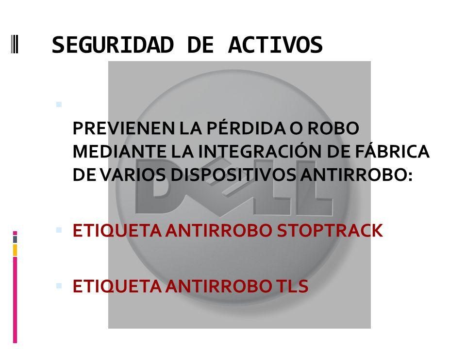 SEGURIDAD DE ACTIVOS PREVIENEN LA PÉRDIDA O ROBO MEDIANTE LA INTEGRACIÓN DE FÁBRICA DE VARIOS DISPOSITIVOS ANTIRROBO: