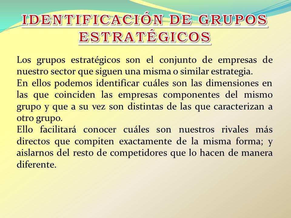 IDENTIFICACIÓN DE GRUPOS ESTRATÉGICOS