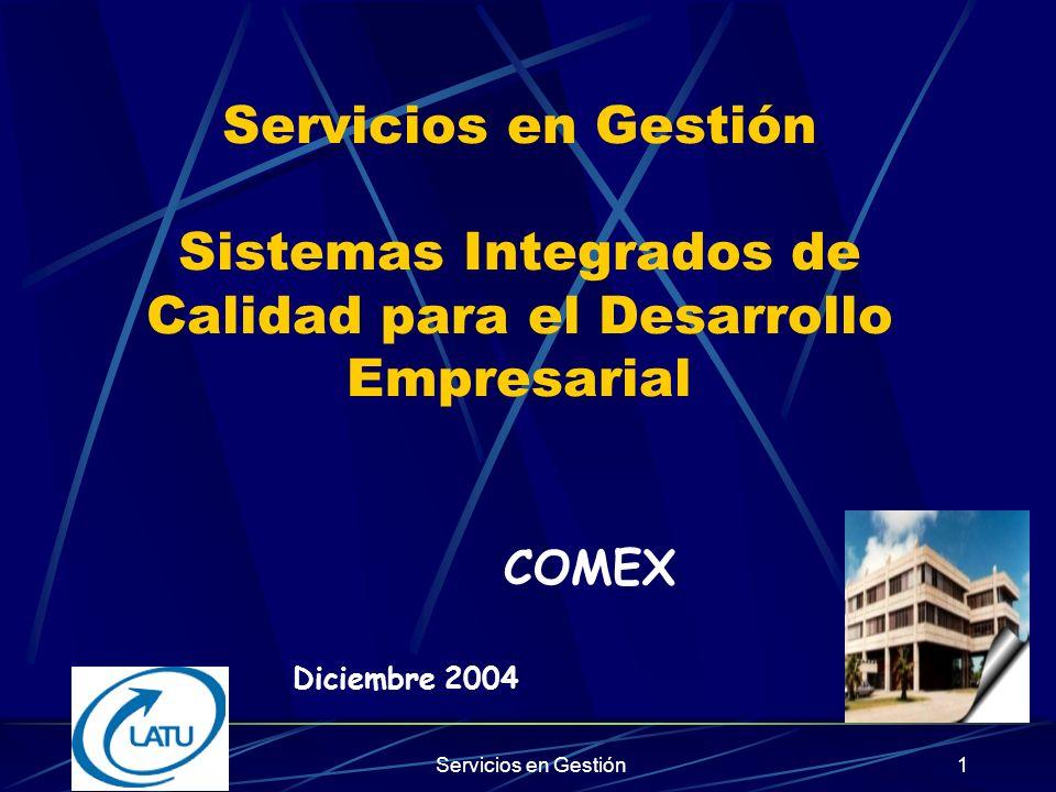 Servicios en Gestión Sistemas Integrados de Calidad para el Desarrollo Empresarial