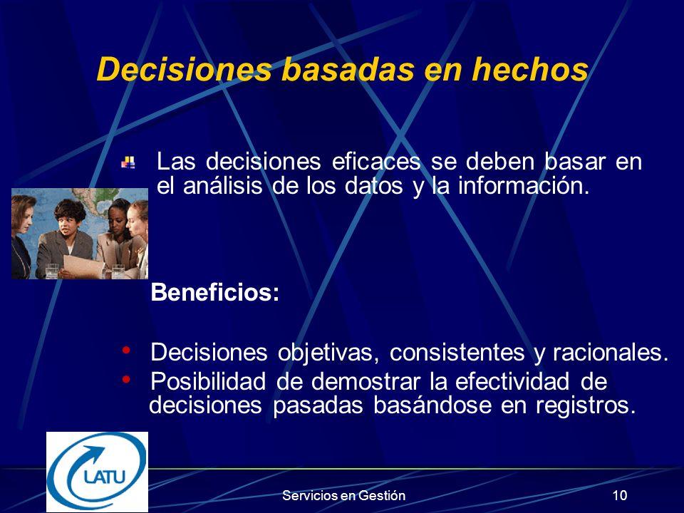 Decisiones basadas en hechos