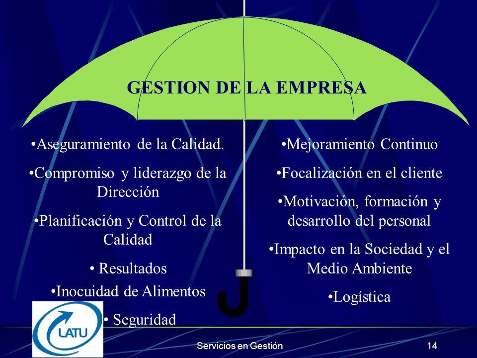 GESTION DE LA EMPRESA Aseguramiento de la Calidad.