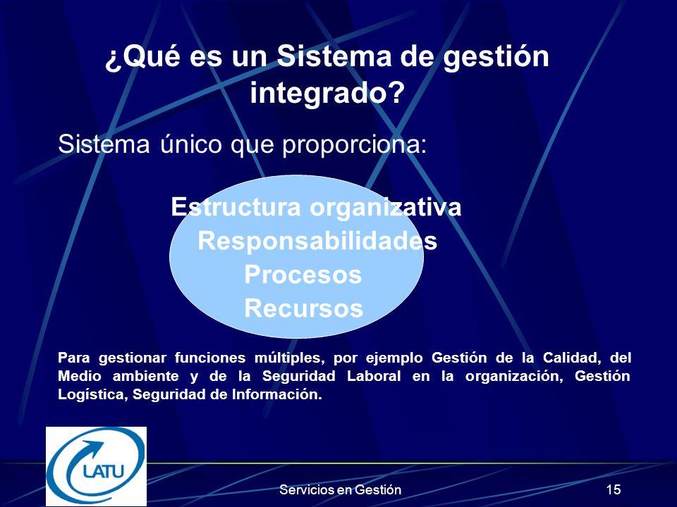 ¿Qué es un Sistema de gestión integrado