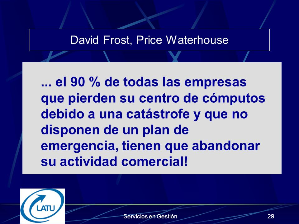 David Frost, Price Waterhouse