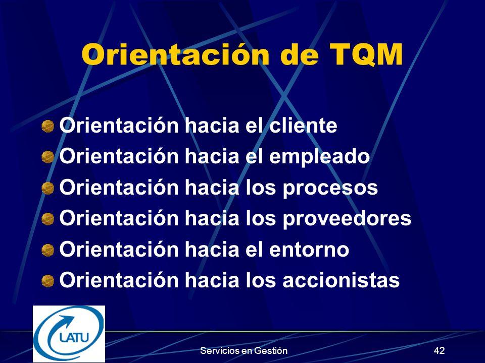 Orientación de TQM Orientación hacia el cliente