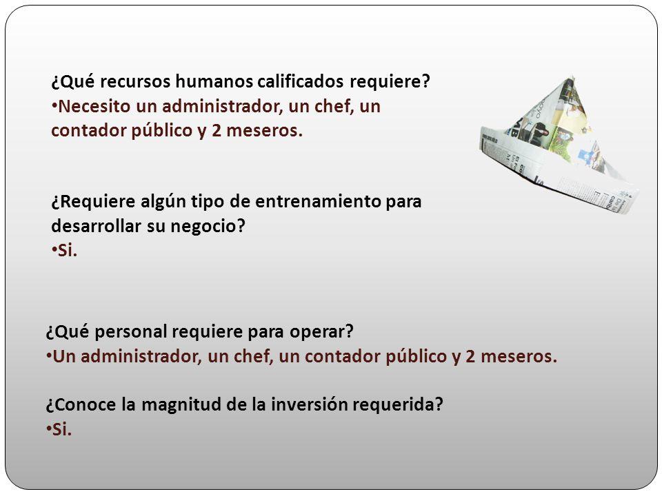 ¿Qué recursos humanos calificados requiere