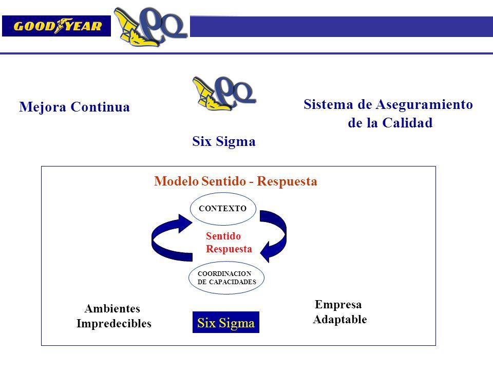 Sistema de Aseguramiento Modelo Sentido - Respuesta