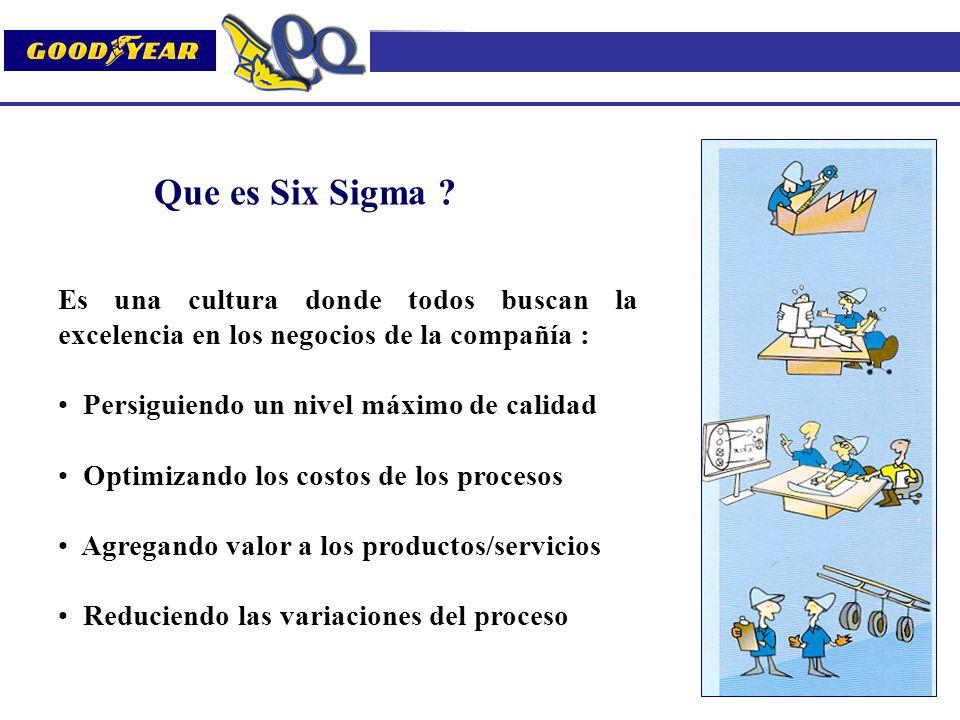 Que es Six Sigma Es una cultura donde todos buscan la excelencia en los negocios de la compañía :
