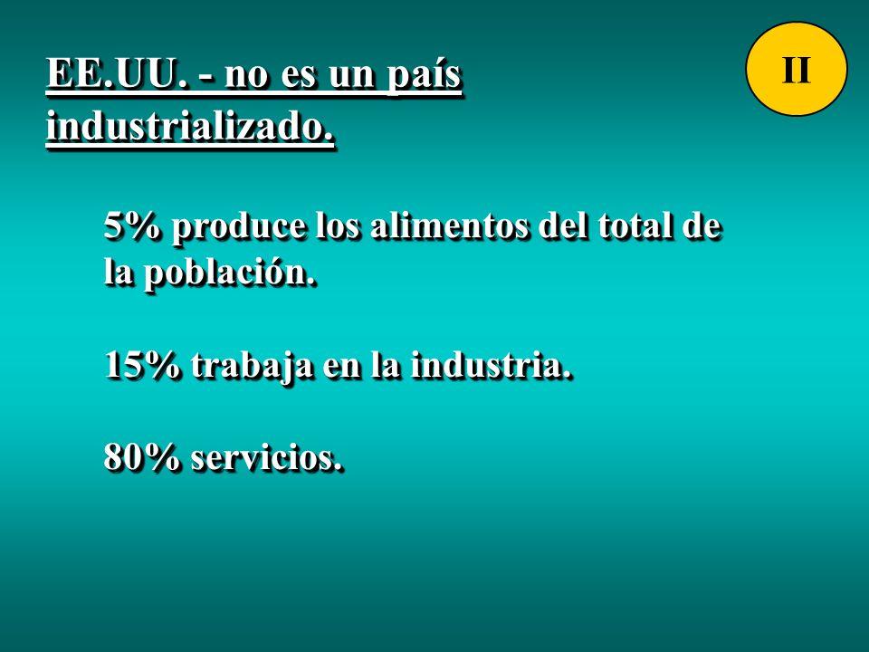 EE.UU. - no es un país industrializado.