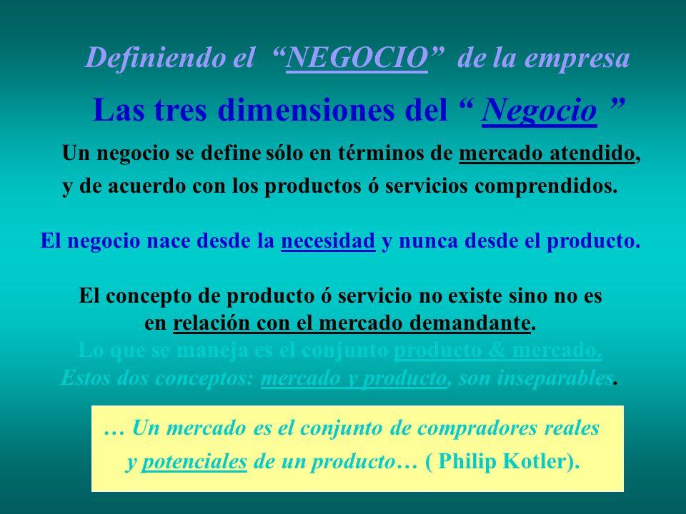 Definiendo el NEGOCIO de la empresa