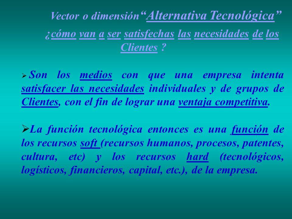Vector o dimensión Alternativa Tecnológica