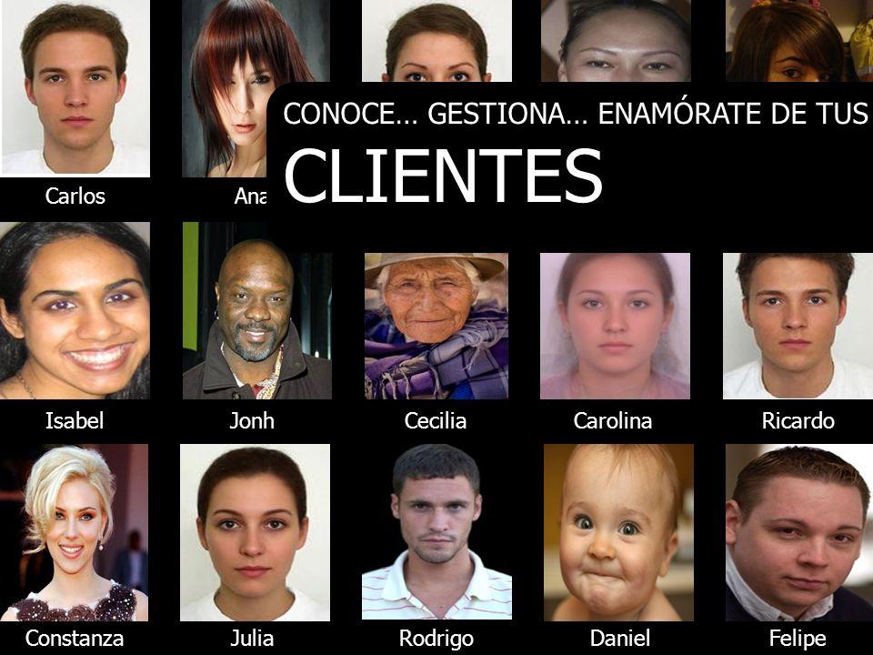 CLIENTES CONOCE… GESTIONA… ENAMÓRATE DE TUS Carlos Ana María Chun