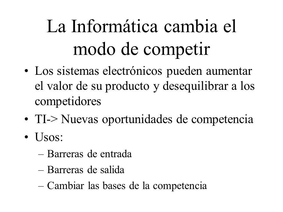 La Informática cambia el modo de competir