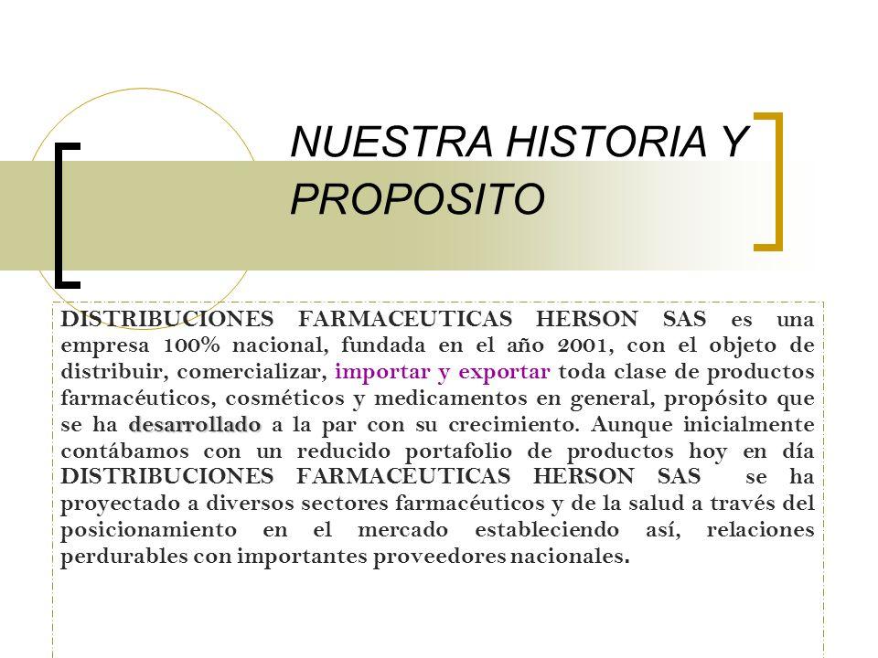 NUESTRA HISTORIA Y PROPOSITO