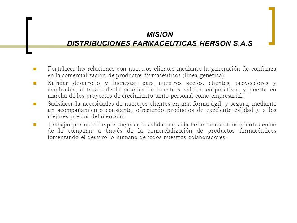 MISIÓN DISTRIBUCIONES FARMACEUTICAS HERSON S.A.S