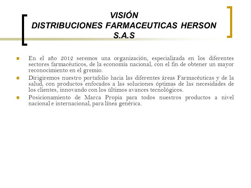 VISIÓN DISTRIBUCIONES FARMACEUTICAS HERSON S.A.S