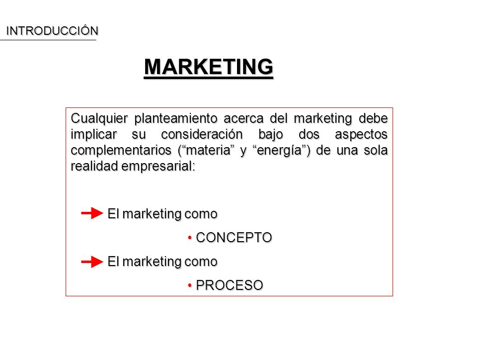 INTRODUCCIÓN MARKETING.