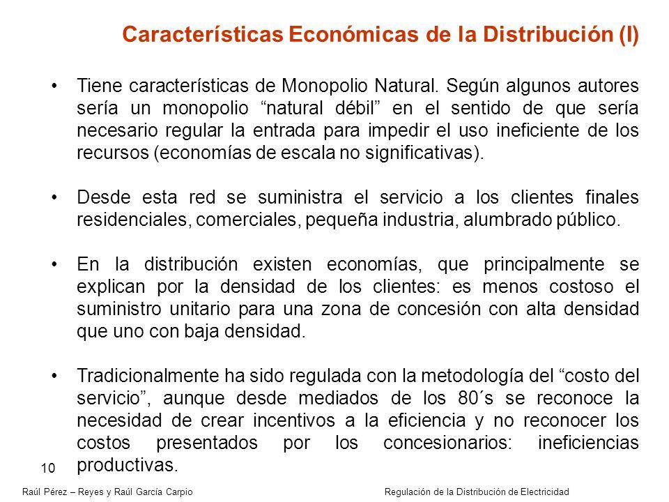 Características Económicas de la Distribución (I)
