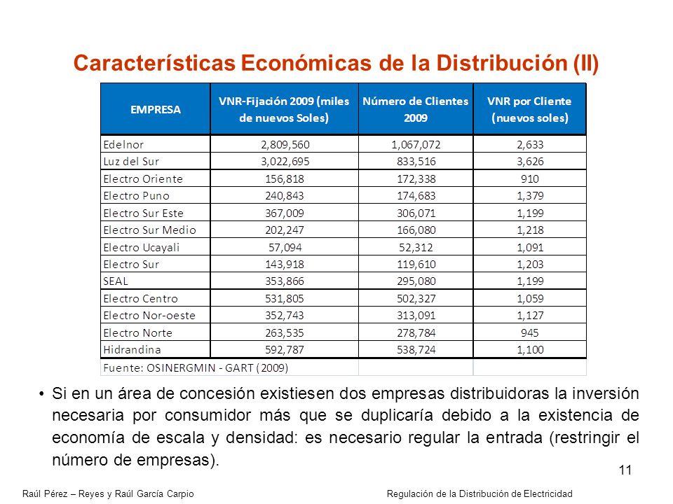 Características Económicas de la Distribución (II)