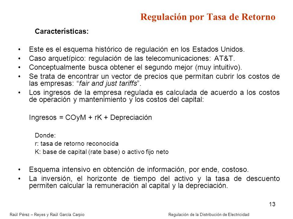Regulación por Tasa de Retorno