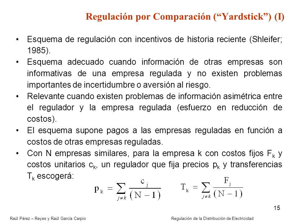 Regulación por Comparación ( Yardstick ) (I)