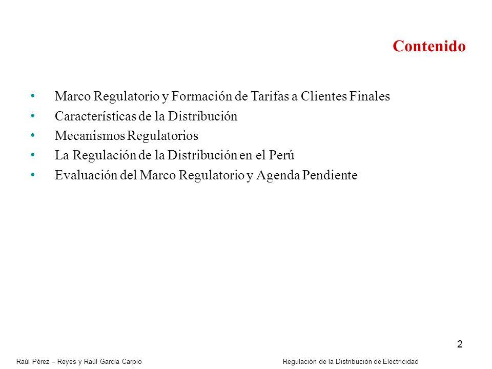 Contenido Marco Regulatorio y Formación de Tarifas a Clientes Finales