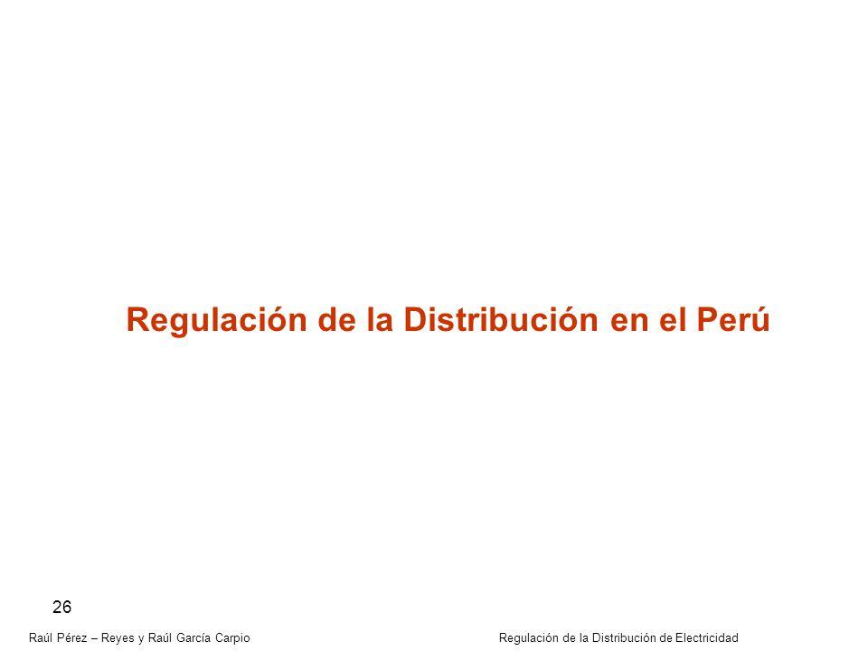 Regulación de la Distribución en el Perú