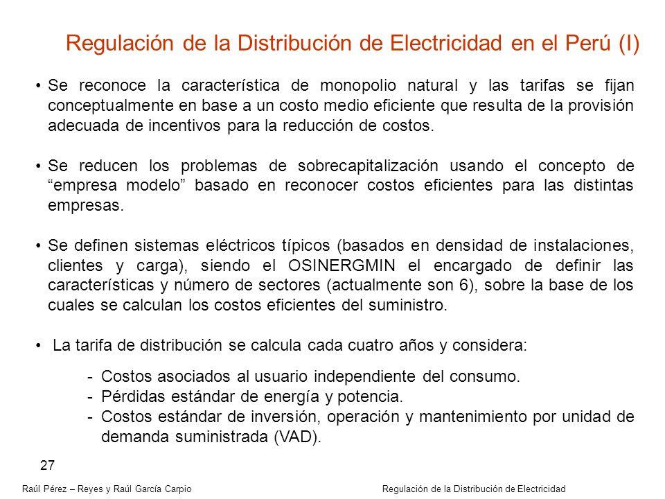 Regulación de la Distribución de Electricidad en el Perú (I)