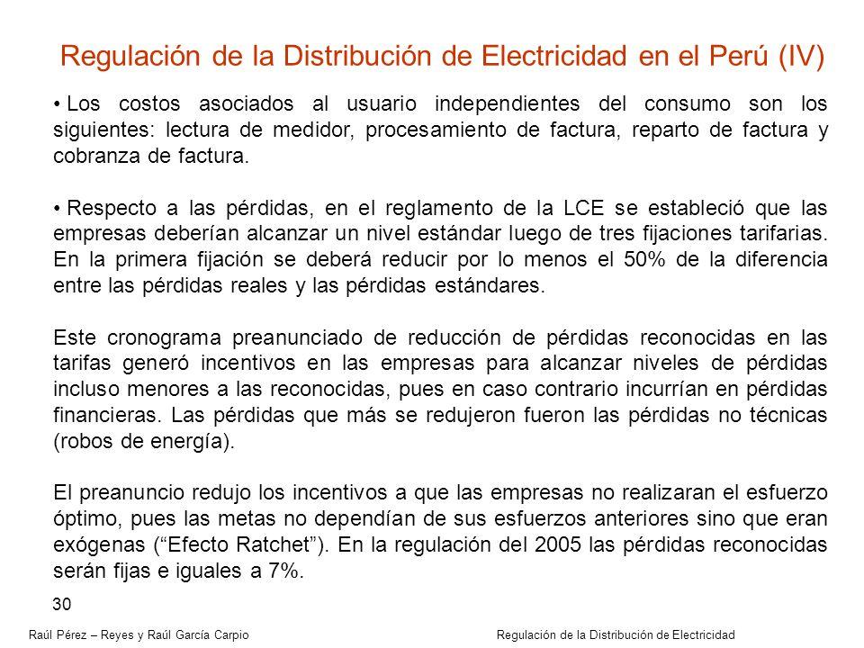Regulación de la Distribución de Electricidad en el Perú (IV)
