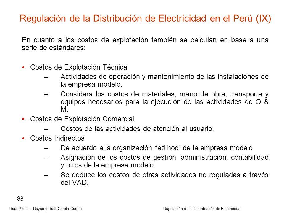 Regulación de la Distribución de Electricidad en el Perú (IX)