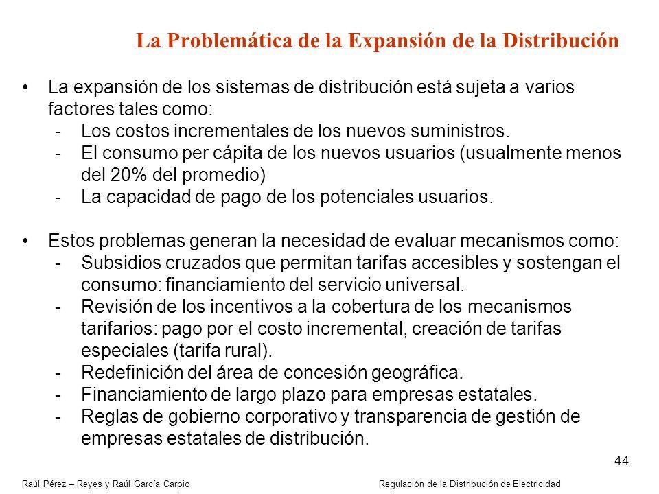 La Problemática de la Expansión de la Distribución
