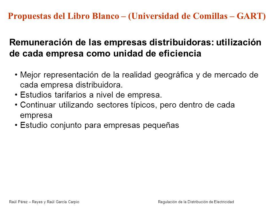 Propuestas del Libro Blanco – (Universidad de Comillas – GART)