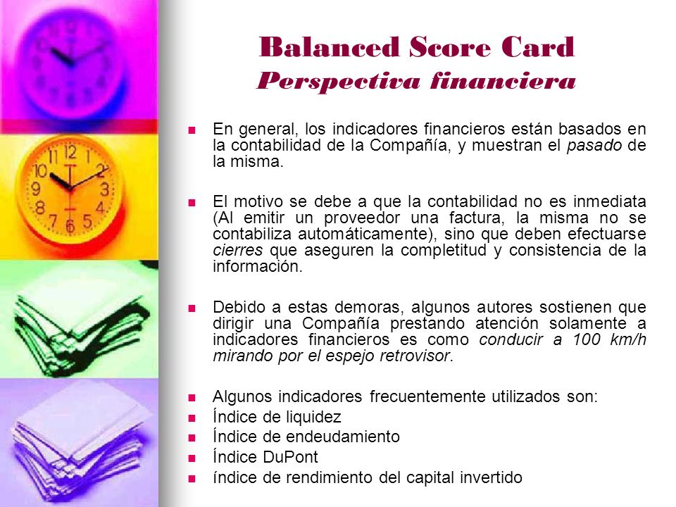 Balanced Score Card Perspectiva financiera
